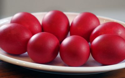 How To Dye Red Eggs with Onion Skins for Greek Easter